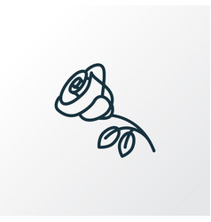 rose flower icon line symbol premium quality vector image