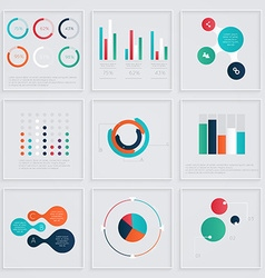 S infographics elements in modern flat business vector