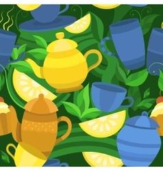 Seamless pattern of tea vector
