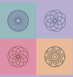 set linear pattern logos vector image