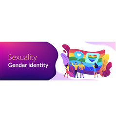 sexuality and gender identity concept banner vector image