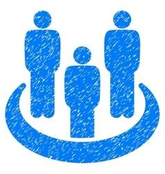 Social Group Grainy Texture Icon vector