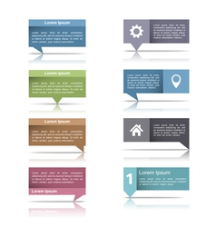 Speech Bubbles with Reflection vector