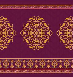 Textile design in oriental style vector