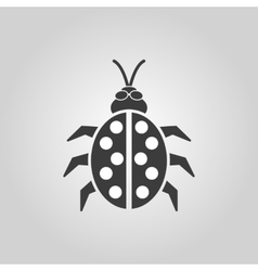 The ladybug icon Ladybird and bug beetle symbol vector image