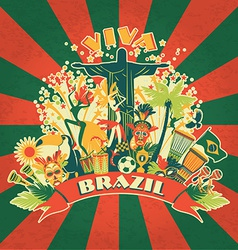 Traditional Brazilian items vector