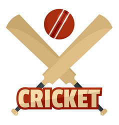 trendy cricket logo flat style vector image
