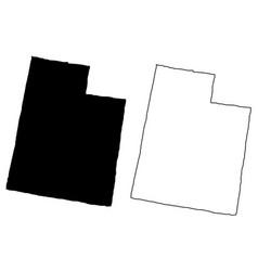 utah map vector image