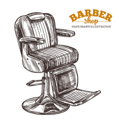 vintage barbershop hand drawn leather chair vector image