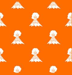 Volcano erupting pattern seamless vector
