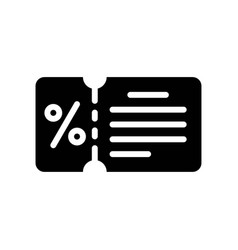 Voucher black friday related solid icon vector