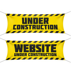 Website under construction banners vector