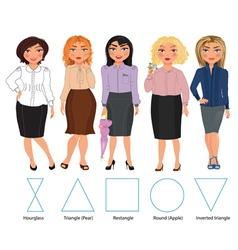 Five Figures business vector image