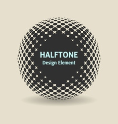 Halftone design element vector image vector image