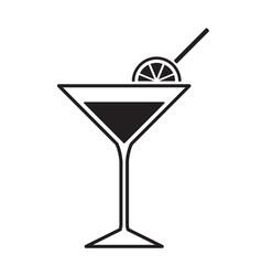 martini glass icon vector image vector image