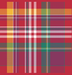 pink check seamless fabric texture square pixel vector image vector image