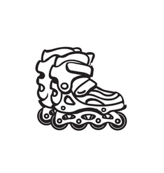 Roller Skates Black and white of a vector image vector image