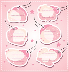 set baby girl blank tags vector image vector image