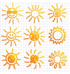 suns elements for design do vector image vector image