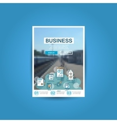 business brochure flyer design template a4 vector image vector image