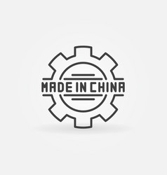 created in china product icon vector image