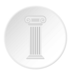roman column icon circle vector image vector image