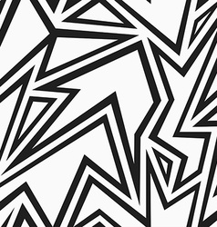tribal monochrome seamless pattern vector image vector image