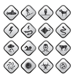 Warning Signs for dangers vector image