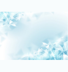 abstract soft blue polygon and molecular vector image