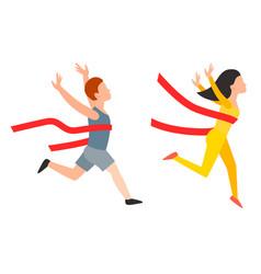 athletic run man people jogging summer sport vector image