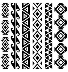 Aztec Tribal Seamless Pattern Designs vector image
