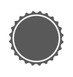 Beer cap icon simple vector