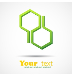 Honeycomb design element background vector image vector image