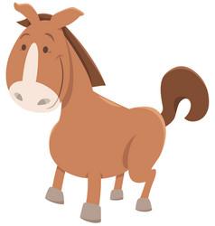 horse or pony cartoon animal vector image vector image