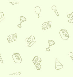 party outline isometric pattern vector image