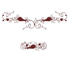 Set of design elements - grape vector image