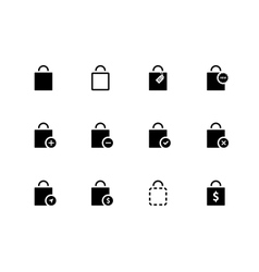 Shopping bag icons on white background vector image