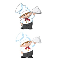 small cook with tray vector image
