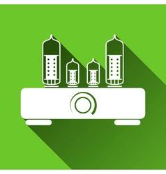 Tube Amplifier Icon Long Shadows vector image