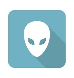 Alien square icon vector image