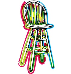 Chair on white background vector image vector image