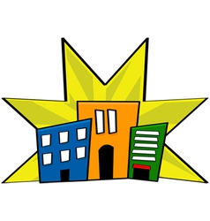 Downtown vector image