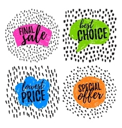 Funny Sale tags vector image