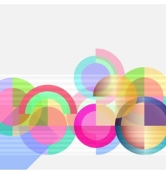 Geometric design abstract background - circles vector image vector image