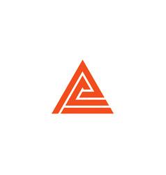 letter a logo alphabet icon set vector image