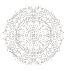 mandala doodle2 vector image