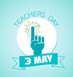 3 may teachers day vector