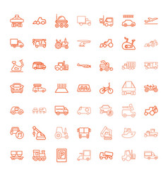 49 vehicle icons vector image