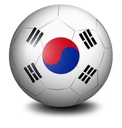 a ball with flag south korea vector image