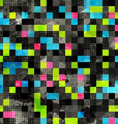 Abstract grunge pixel seamless vector